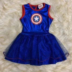 Girl's Rubie's Marvel Captain America Dress XS
